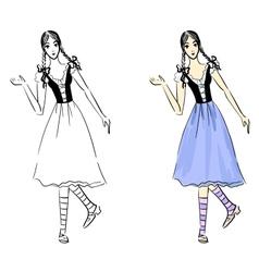 Folklore girl vector