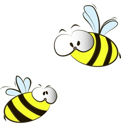 funny cartoon bees vector image