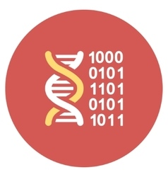 Genetical Code Flat Round Icon vector