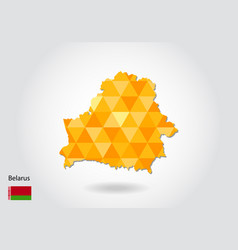 Geometric polygonal style map of belarus low poly vector
