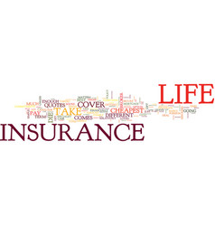 go online for the cheapest life insurance quotes vector image