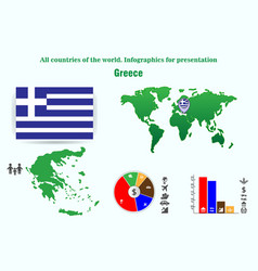 greece all countries of the world infographics vector image