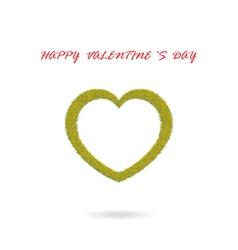 green heart shape vector image