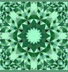 green seamless kaleidoscope pattern background vector image