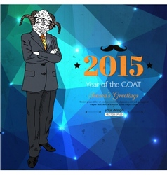 Hipster background Year of the goat Geometric vector