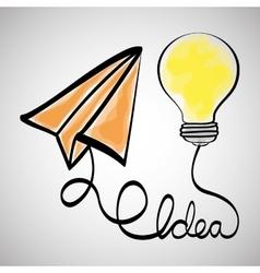 Idea design sketch icon White background vector image