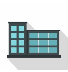 Industrial factory building icon flat style vector