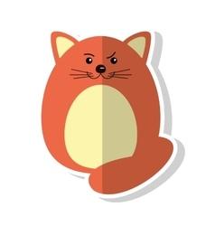 Isolated cat cartoon design vector