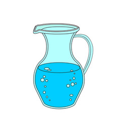 Jug or carafe with water on white background vector