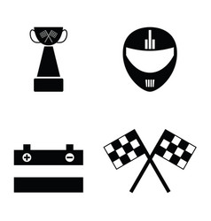 karting icon set vector image