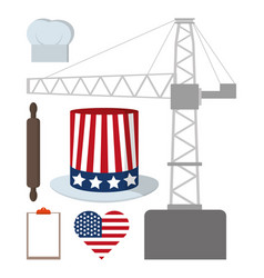 Labor day icons vector