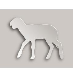 Lamb paper style vector