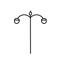 lamp post street light icon thick line vector image