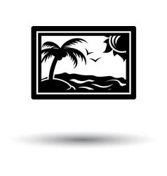 landscape art icon vector image
