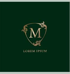 Letter m alphabetic logo design template luxury vector