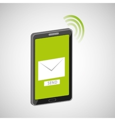mobile cellphone email message send icon vector image