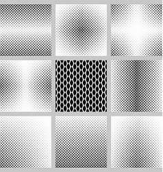 Monochrome curved shape pattern background set vector image
