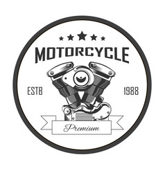 motorcycle premium repair services round logo vector image
