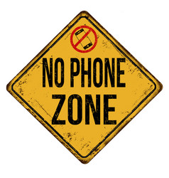 No phone zone vintage rusty metal sign vector