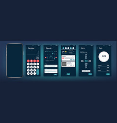 phone interface modern mobile application vector image