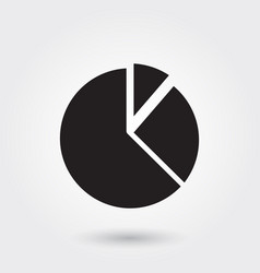 pie chart business report glyph icon for any vector image