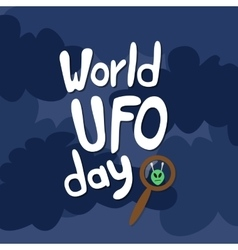Poster for World UFO day vector image