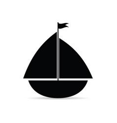 Sailing ship flat icon vector