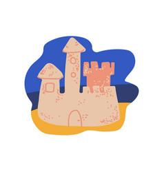 sand castle on beach summer travel symbol vector image