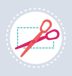 scissors cutting discount coupon shopping icon vector image