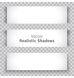 set blank banner sheet paper with shadow vector image