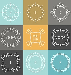 set trendy logo design elements vector image