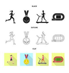 sport and winner logo set vector image