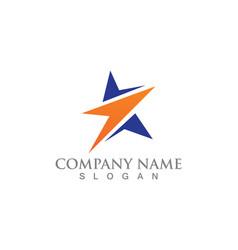 star logo and symbols template icon design vector image