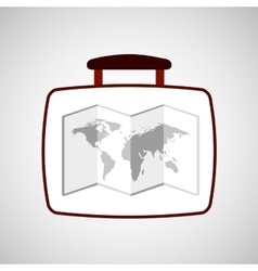 Travel concept world map icon vector