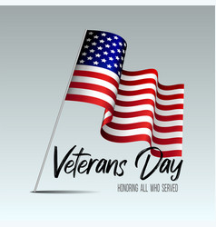 veterans day card creative vector image