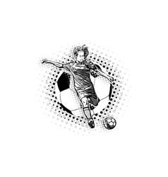 women soccer vector image