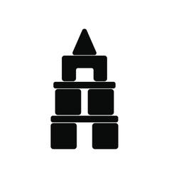 Children blocks black simple icon vector image vector image