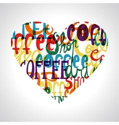 Coffee shop love concept vector image vector image