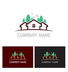 home realty tree logo vector image
