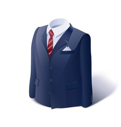 Jacket and shirt Business vector image vector image