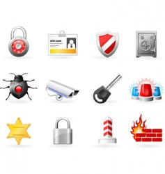 security and safety icons vector image vector image