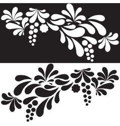 Set of white and black silhouettes arc drop design vector image vector image