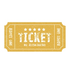 single ticket vector image vector image