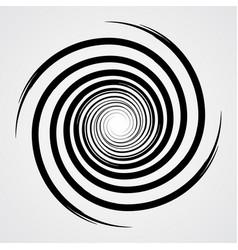 black spiral swirl circle vector image