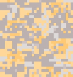 Camouflage military background in pixel style vector image vector image