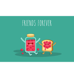 jam and toast vector image