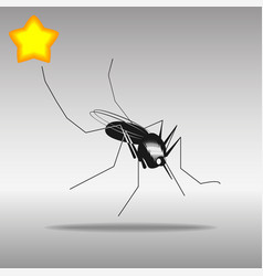 Mosquito black icon button logo symbol vector