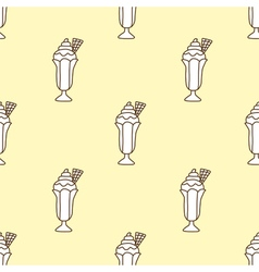 Seamless pattern of ice cream vector image vector image