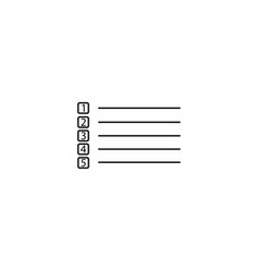 to do list icon simple of to do list icon for web vector image vector image