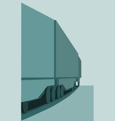 train freight transportation vector image